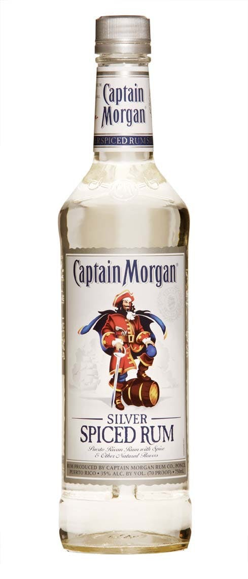 Captain morgan silver spiced rum red spirits wine for What goes good with spiced rum