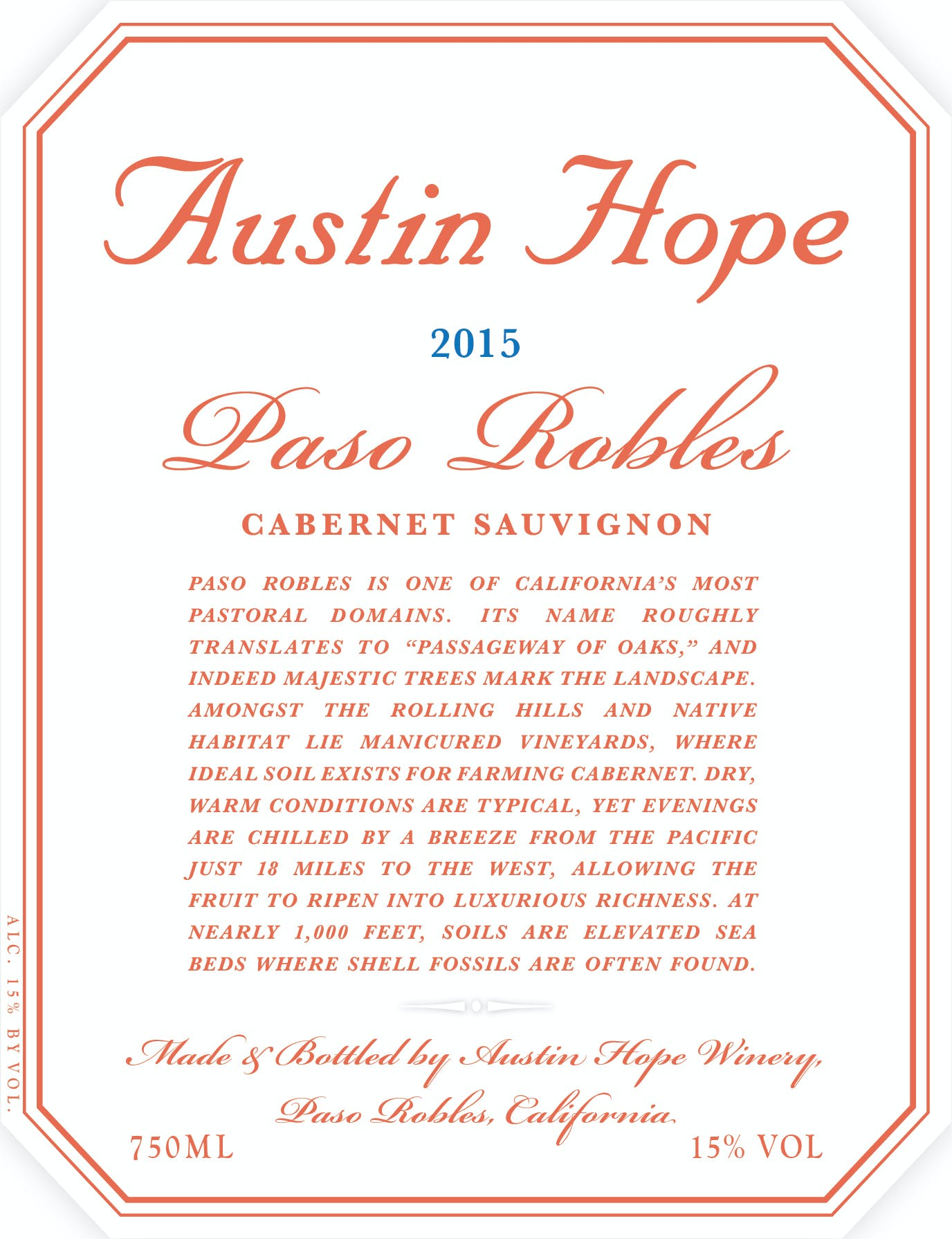 Austin Hope Cabernet Sauvignon 2015 - Canal's of Berlin