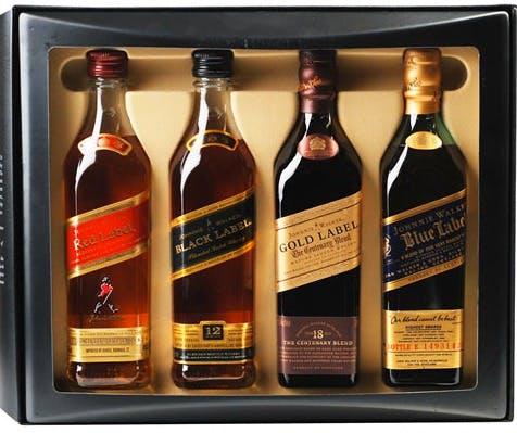 johnnie walker red black gold blue label sampler pack blended scotch