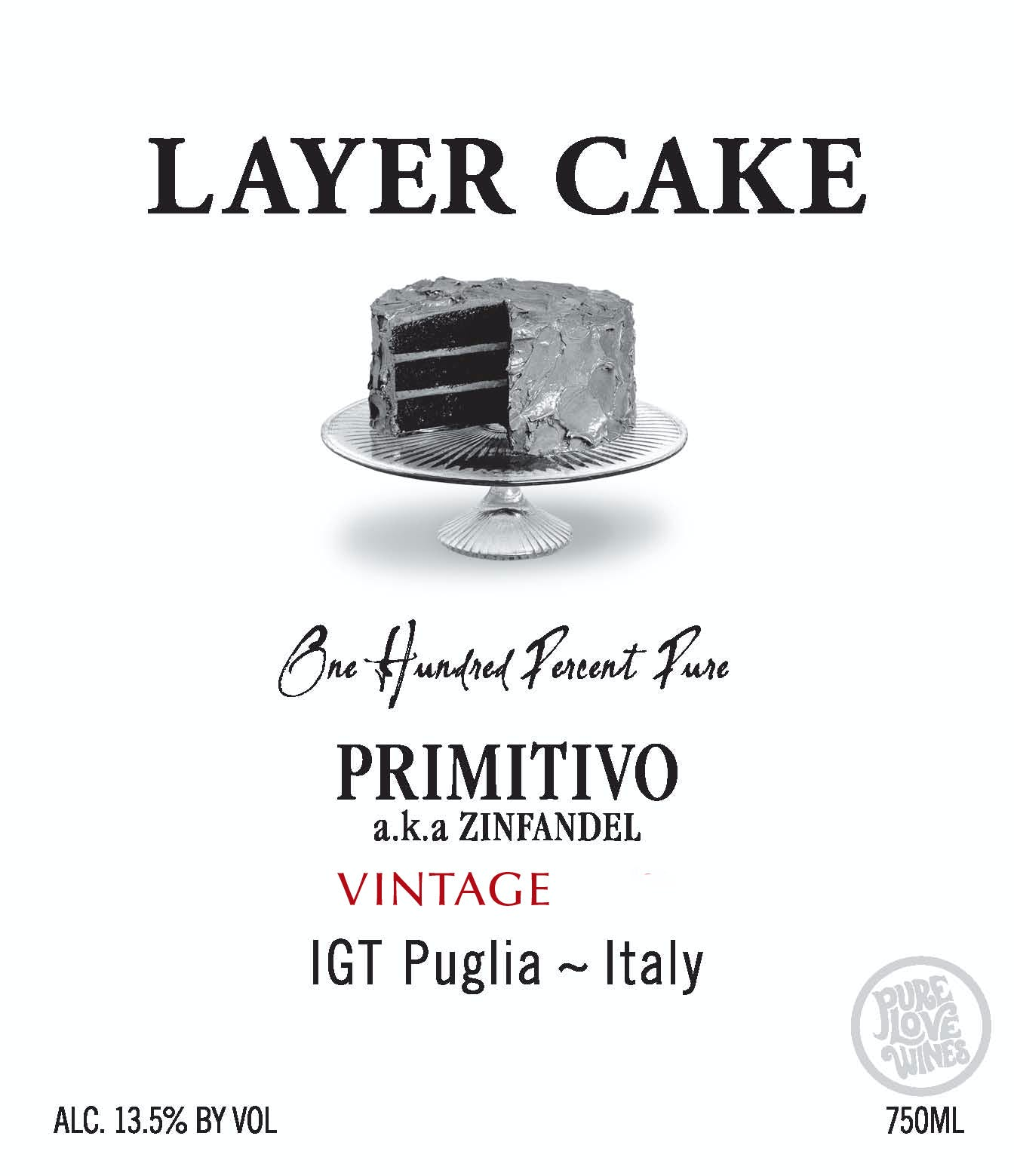 Layer Cake Wine Primitivo