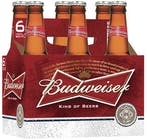 Budweiser Beer 6 pack 355ml Bottle