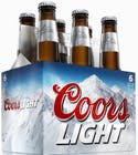 Coors Light      6 pack 355ml Bottle