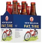 New Belgium Fat Tire Amber Ale 6 pack 355ml Bottle