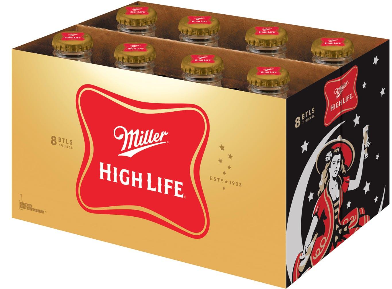 47825aec7a25c Miller High Life 6 pack 7oz Bottle - Argonaut Liquor