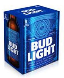 Budweiser Bud Light 6 Pack 12oz Bottle