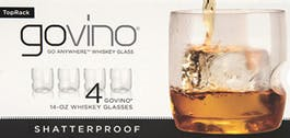 Govino Whiskey Glass 4 pack 750ml