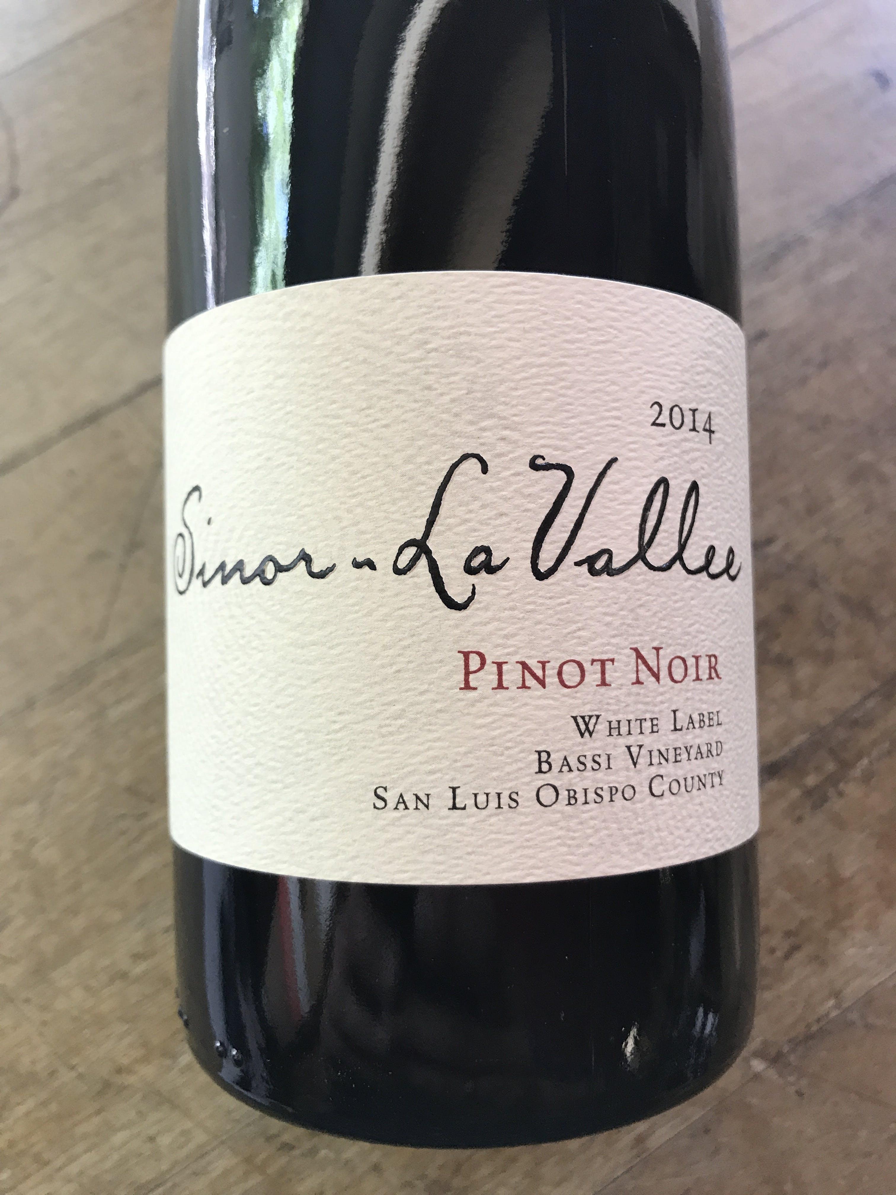 Sinor Lavallee White Label Bassi Vineyard Pinot Noir 2014
