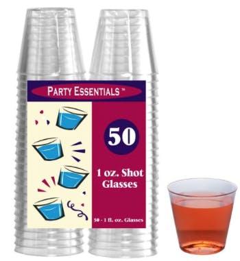Party Essentials 1 Oz  Shot Glasses 750ml