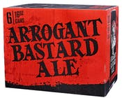 Arrogant Brewing Arrogant Bastard Ale 6 pack 16oz Can