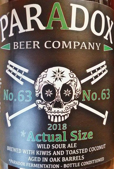 Image result for paradox actual size oak aged sour ale