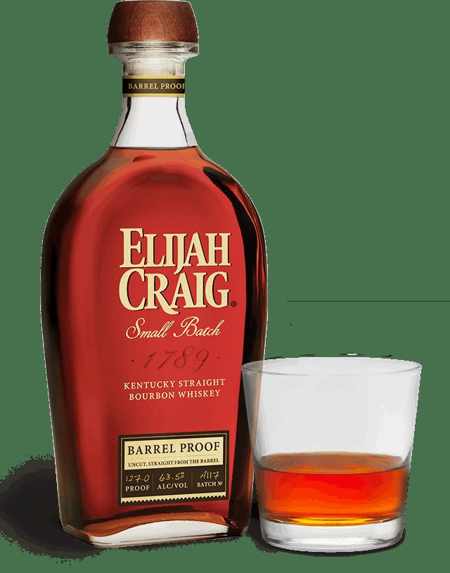 Fin Elijah Craig BARREL PROOF Kentucky Straight Bourbon Whiskey - Wine KR-38