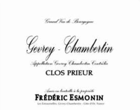 Frédéric Esmonin Gevrey-Chambertin Clos Prieur 2017
