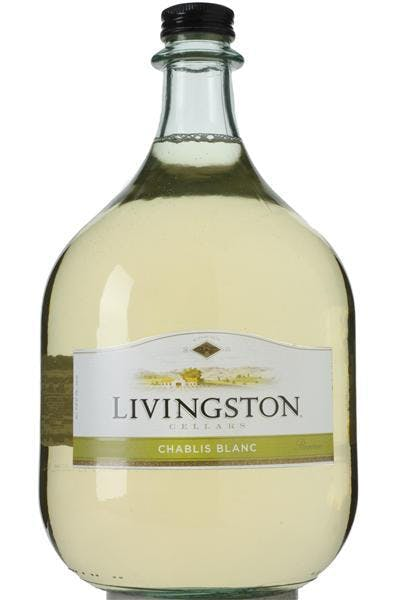 Livingston Cellars Chablis Blanc 3l Bottle Argonaut Liquor