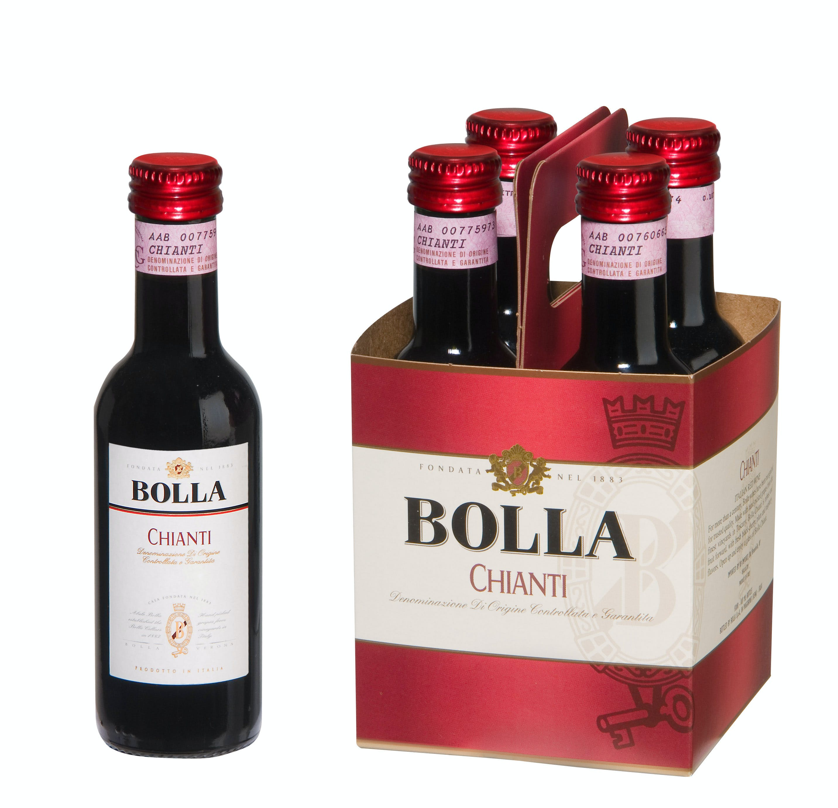 Bolla Chianti 2015 4 Pack 187ml Glass Bottle Argonaut Liquor